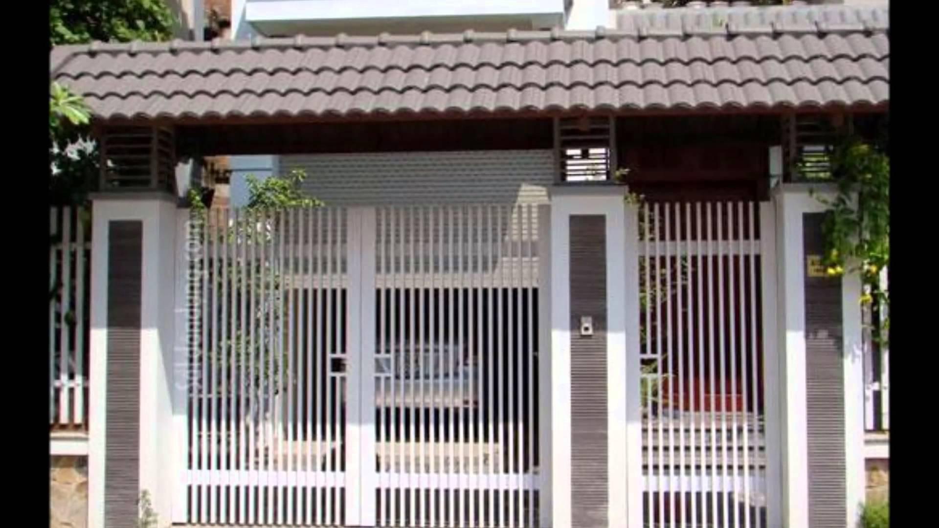 Cổng sắt - tường rào
